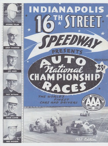 1952 Program for the 16th Street Speedway