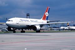 307bb - Yemenia - Yemen Airways Airbus A310-325ET; F-OHPR@FRA;10.07.2004 (Aero Icarus) Tags: plane airport frankfurt flughafen flugzeug fra avion slidescan yemenia airbusa310 yemenairways fohpr