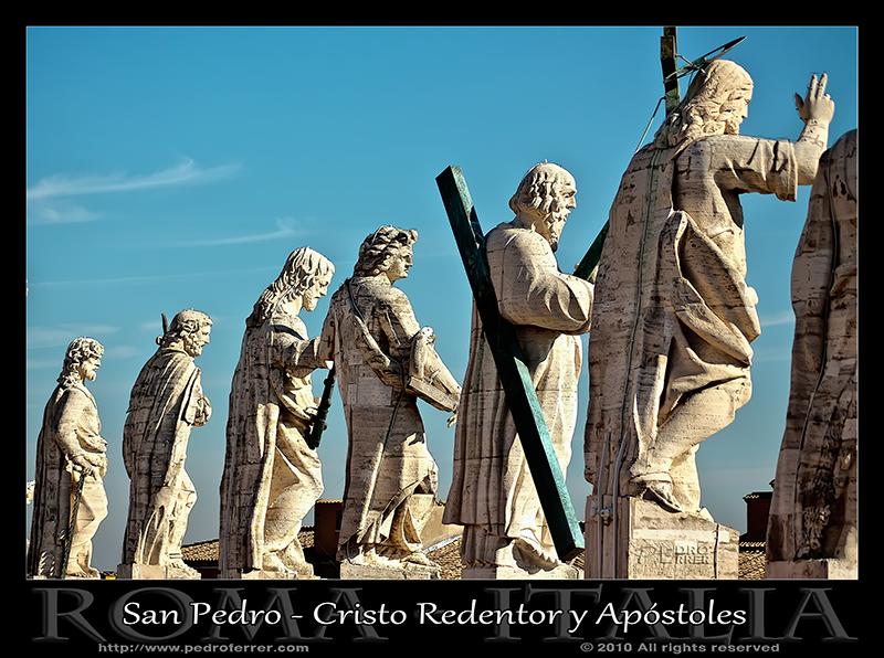 Roma - San Pedro - Cristo redentor y Apóstoles
