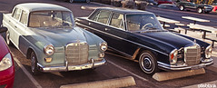 Look what I ran into today! (DryHeatPanzer) Tags: mercedes benz 1966 200 mbz w110 heckflosse fintail w108 250se