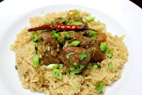 Lamb Peratil curry with Malay fragrant rice