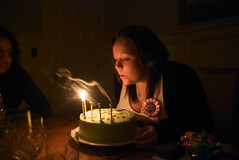 Make a Wish! (k.richardsD80) Tags: birthday light party cute girl cake happy rachel candles break smoke birthdayparty birthdaycake inside birthdaygirl christmasbreak blowingoutcandles litcandle nikond80