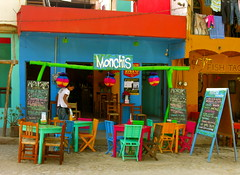 Monchis. (mariaortizbyrne) Tags: trip summer vacation bar mexico holidays colours colores nayarit drinks verano vacaciones sayulita 2010 fluo monchis