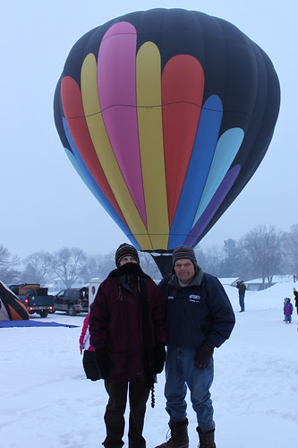 Mom and Dad on the balloon field