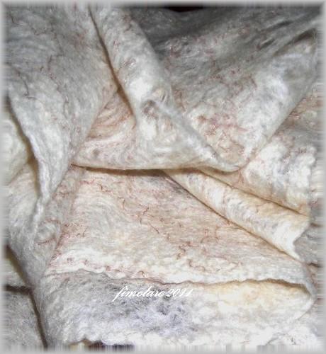 Wet Felted cobweb Scarf