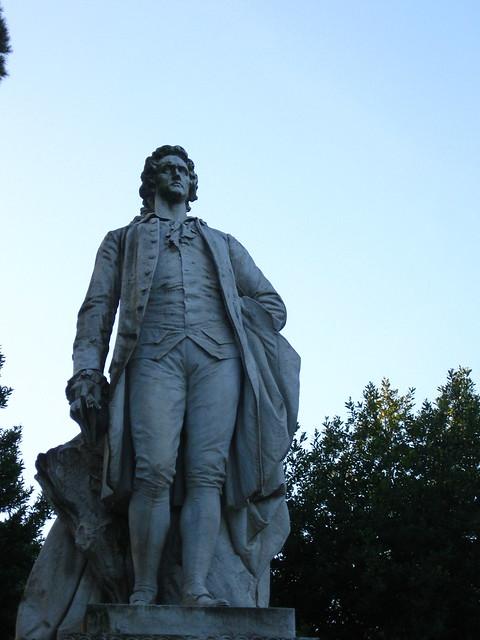 ゲーテの像のフリー写真素材