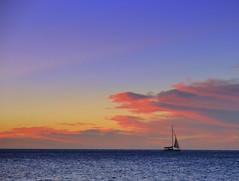 """Sailboat"" (BALEDS) Tags: ocean sunset sea beach sailboats glenelg rockpools halletcove kingstonpark marinorocks adelaidecoastalpics"
