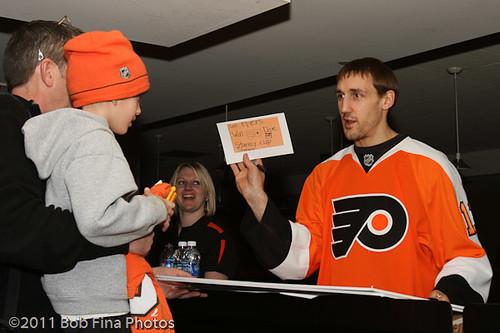 Blair Betts #11 of the Philadelphia Flyers.
