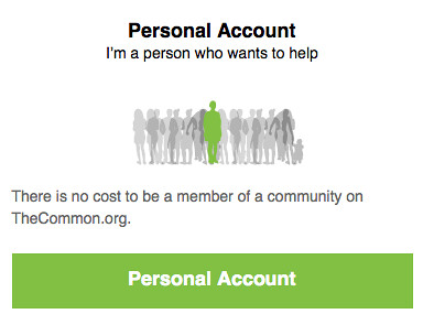 Personal Account Signup