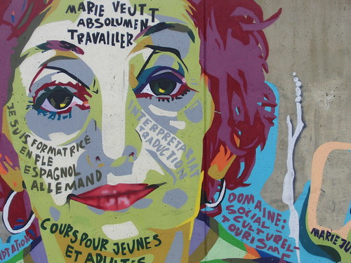 graffiti para buscar trabajo