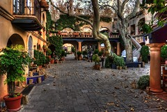 Morning at tlaquepaque in Sedona (Michael-Wilson) Tags: arizona photography michael photo market photos pics sedona pic cobblestones wilson hdr tlaquepaque michaelwilson michaelwilsoncom