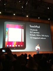 Rubenstein introduces HP TouchPad.