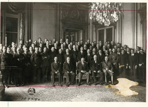 President Wilson with Advisors and Staff at Paris Peace Conference