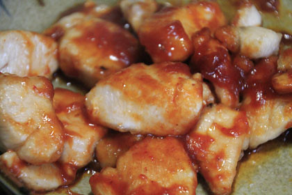 焼き肉のたれで作る鶏肉のチリソース