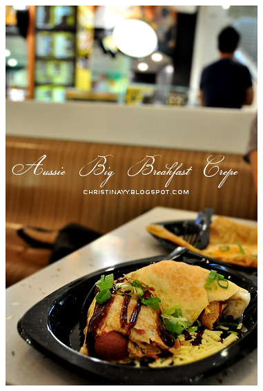 The Crepe Cafe Queen Street Mall Brisbane: Aussie Big Breakfast Crepe