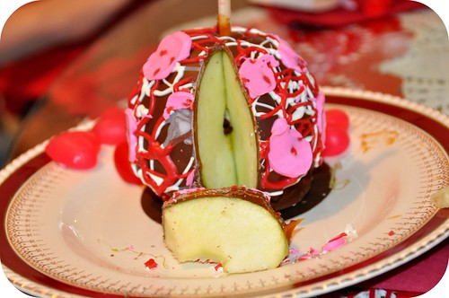 Valentine Candy Apples