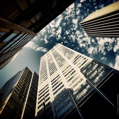 b e n e a t h (Noval N | Photography) Tags: morning light sky cloud reflection building glass architecture canon eos cityscape sydney australia nsw newsouthwales beneath 1740mm