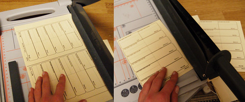 Cutting calendar pages