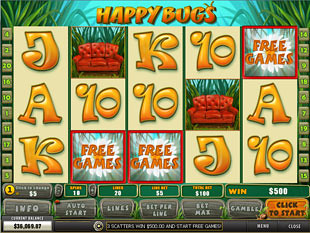 free Happy Bugs slot scatter symbols