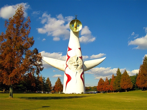 フリー写真素材|芸術・アート|オブジェ・モニュメント|太陽の塔|岡本太郎|日本|大阪府|