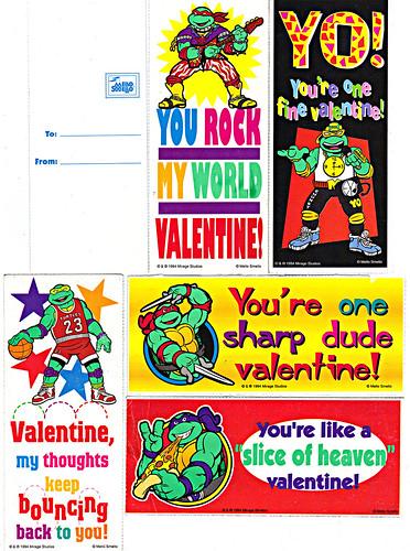 """MELLO SMELLO:: """"Teenage Mutant Ninja Turtles"""" - Random Valentines ii (( 1994 ))"""