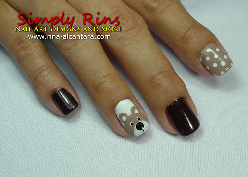 Nail Art Teddy Bear 03