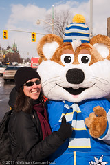 Steph and the Winterlude mascot