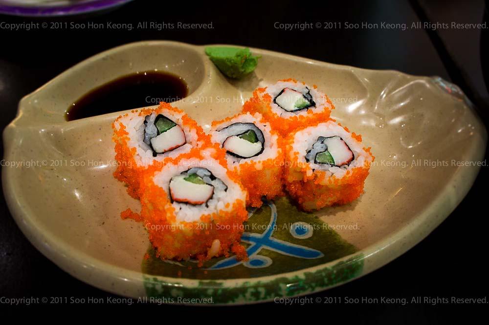 Sushi @ Ajisen Ramen, Singapore