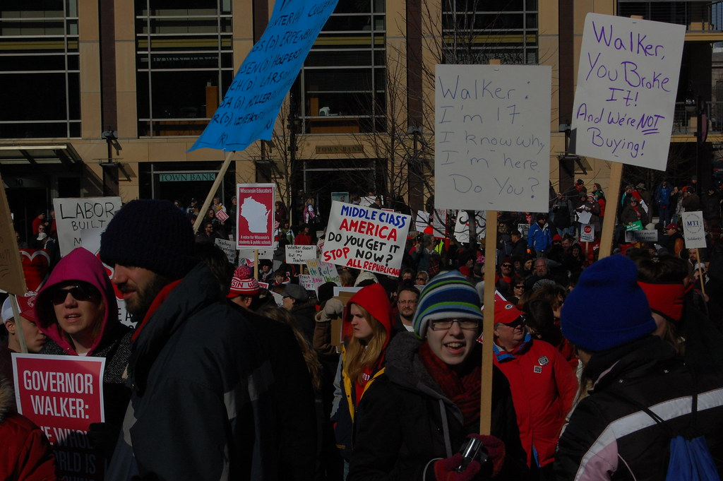 Wisconsin Pro-Workers Rally