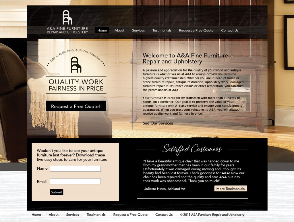 A&A Fine Furniture Repair and Upholstery