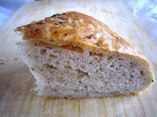 A slice of focaccia