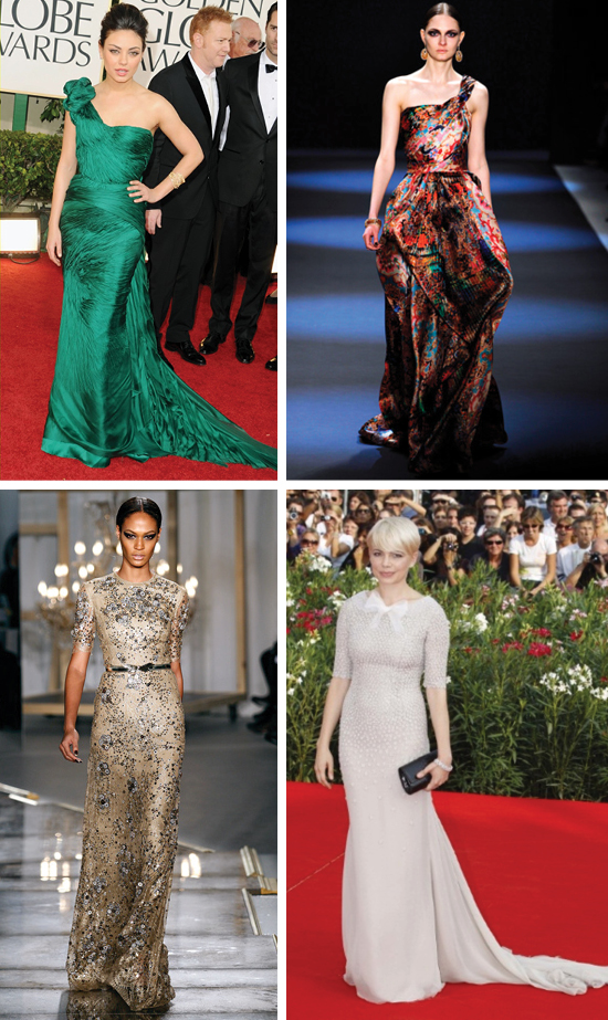 Mila Kunis, Michelle Williams, Red Carpet, Jason Wu, Naeem Khan 2011