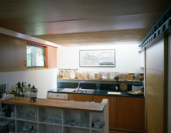 Interior View of Kitchen - Photograph by Allan Forbes