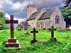 St.Mary Magdalene, Little Whelnetham (1) (dogmarten28) Tags: tower church graveyard suffolk village cross small tombstone nave hilltop littlewhelnetham dogmarten28