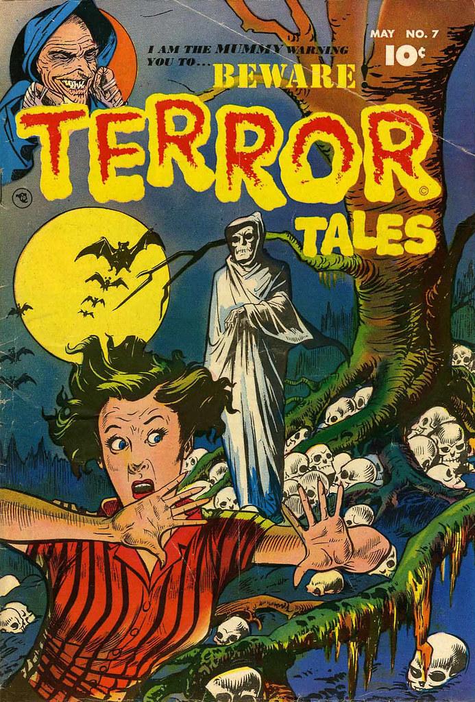 Beware Terror Tales #7 Bernard Bailey Cover (Fawcett, 1953)