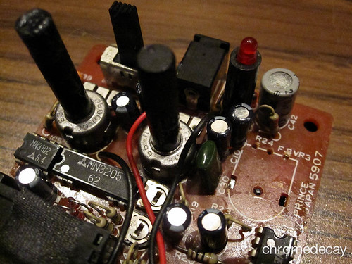 Arion SAD-1 analog delay: bad potentiometer removed