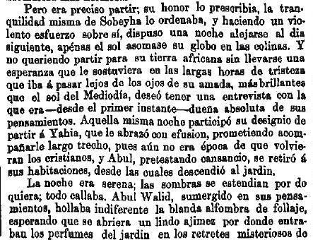 Leyenda de La Peña del Moro publicada en La Amérca por Eugenio de Olavarria y Huarte. Página 9