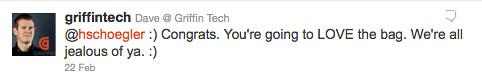 @griffintech congrats tweet