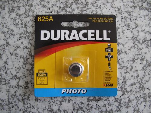 Alkaline Battery (Duracell 625A)