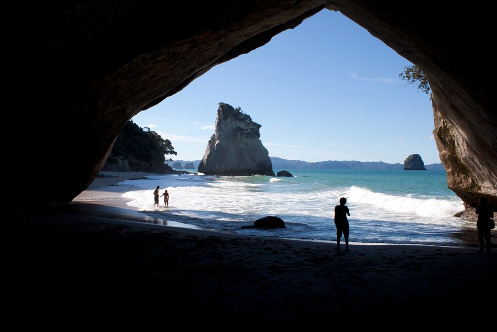 Under Cathedral Cove