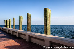 Down At The Pier (Matt Currier Photography) Tags: ocean wood blue water st canon shadows florida petersburg pete 5d fl pilings hdr thepier 35l