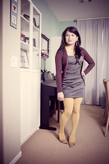 030111 (bethantics) Tags: remix todays whatiworetoday browncardigan outfitwardrobe greytiereddress yellowcoloredopaquetights