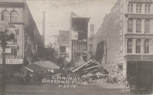 South Main Street, Dayton, Ohio - 1913 Flood