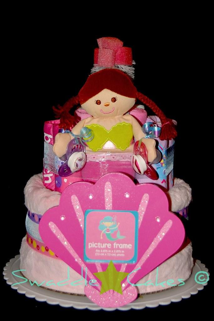 Beach Baby Diaper Cake