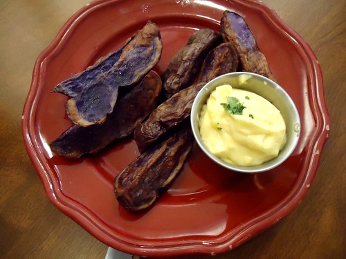 potatoe wedges and aioli