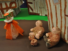 Yotsuba Gives Alms to the Poor (redrickshaw) Tags: costumes handmade tudor year2 yotsuba classroomdisplay tudorhouse keystage1