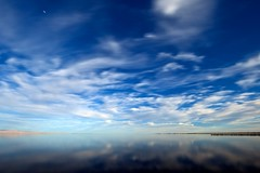 tranquil (Eric 5D Mark III) Tags: california longexposure blue sky usa cloud reflection canon landscape mirror scenery unitedstates atmosphere wideangle surface saltonsea saltonseabeachmarina ef14mmf28liiusm eos5dmarkii