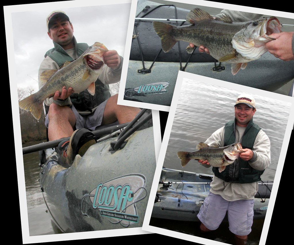 Caja's big bass collage in Jackson Coosa!