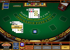 European Blackjack Microgaming game
