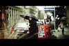 Rain,Coffee and cigarettes (1-2-3 cheese) Tags: street red ny color girl rain bokeh candid streetphotography hotgirl streetshot travelphoto newyorkchinatown d700 chuplen nikond700 nikon135f2dc